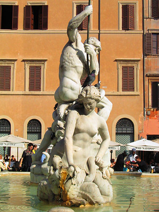 Piazza Navona, Neptune. toanthai.com/2003/photojournal